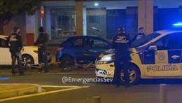 Vigilancia policial en las calles de Sevilla