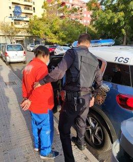 Detención de un hombre por un delito de malos tratos en Palma