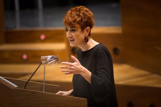 La portavoz de EH Bildu, Bakartxo Ruiz, interviene en el Debate sobre el Estado de la Comunidad en el Parlamento de Navarra.