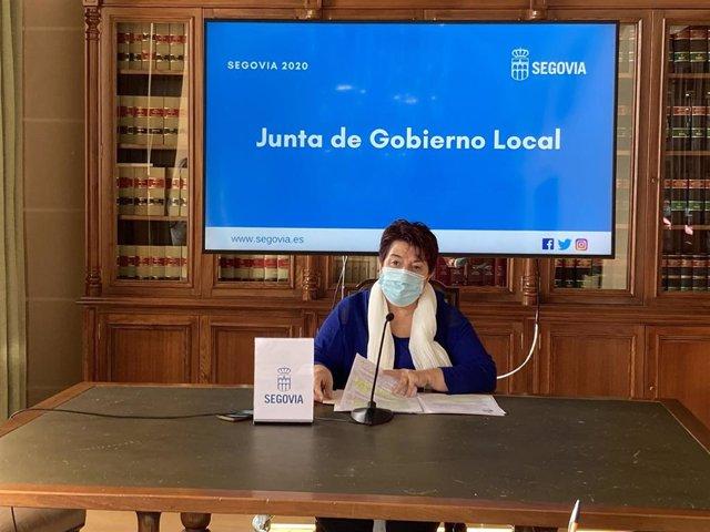 La alcaldesa de Segovia, Clara Luquero.