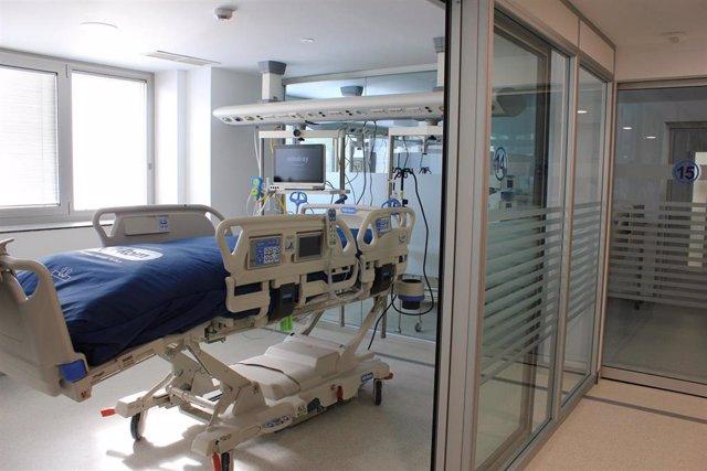 UCI ampliada en el Hospital de Segovia.