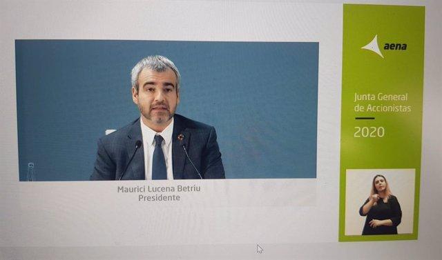 Junta de accionistas telemática de AENA 2020
