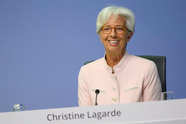HANDOUT - 16 July 2020, Frankfurt: President of the European Central Bank (ECB)