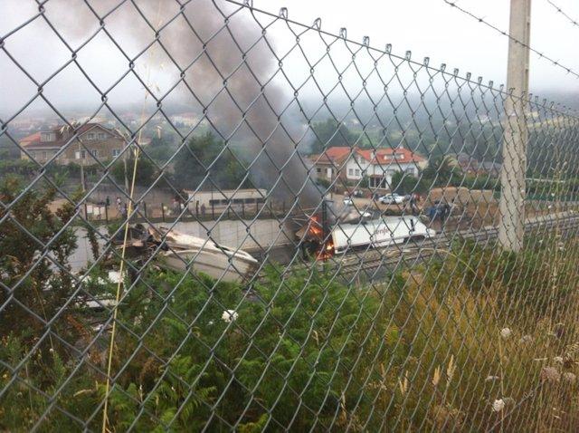 Accidente de Angrois en Santiago de Compostela.