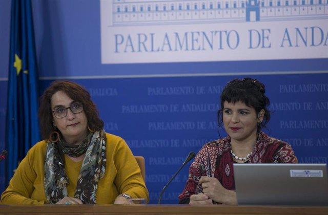 Ángela Aguilera y Teresa Rodríguez, en una foto de archivo