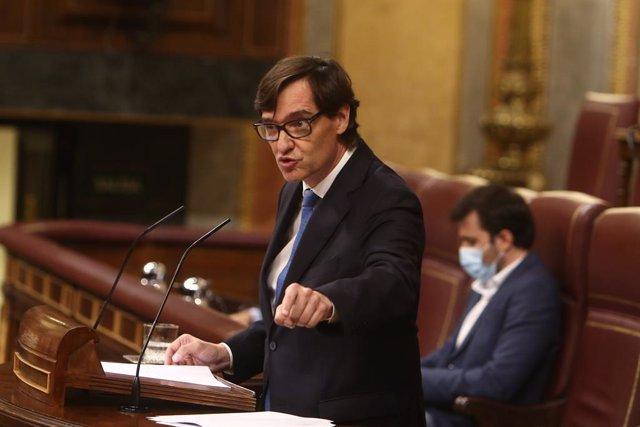 El ministre de Sanitat, Salvador Illa, al Congrés dels Diputats. Madrid, (Espanya), 29 d'octubre del 2020.