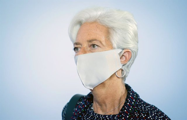FILED - 11 September 2020, Berlin: Christine Lagarde, President of the European Central Bank (ECB), arrives for the EU Informal Meeting of Ministers for Economic and Financial Affairs. Coronavirus recovery is threatening to lose momentum. Photo: Kay Nietf