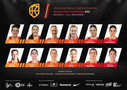 Cuevas, Ygueravide y Gimeno, en la lista de la selección femenina para preparar el Preolímpico 3x3