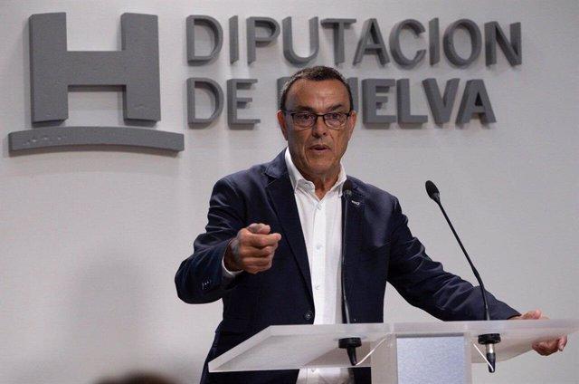 El presidente de la Diputación de Huelva, Ignacio Caraballo
