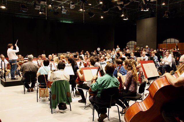 Assaig de l'Orquestra Simfònica de Balears, recurs