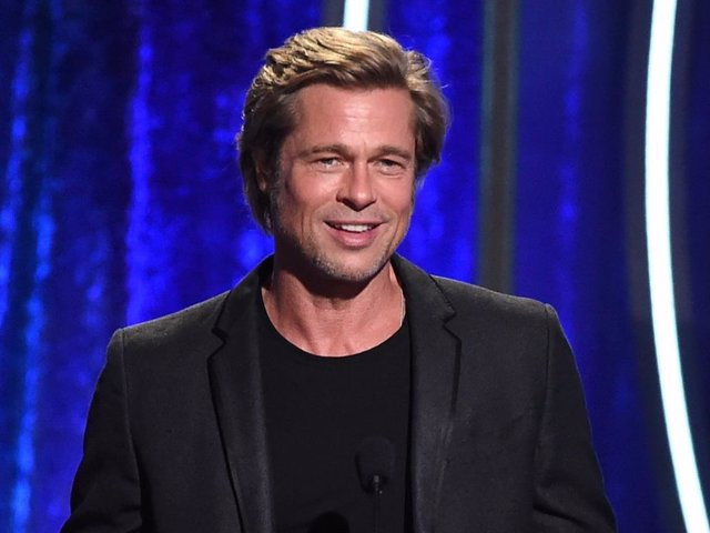 Brad Pitt speaks onstage during the 22nd Annual Hollywood Film Awards at The Beverly Hilton Hotel on November 4, 2018 in Beverly Hills, California.