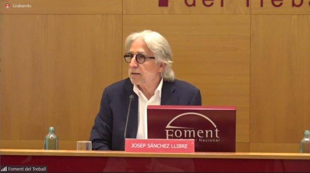 El president de Foment del Treball, Josep Sánchez-Llibre