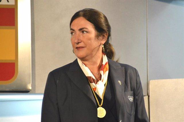 Marisol Casado, presidenta de World Triathlon, durante un acto en el COE