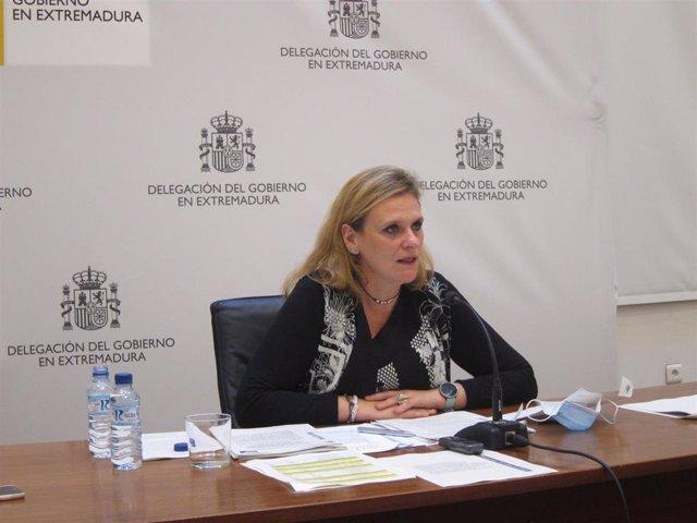 La delegada del Gobierno en Extremadura, Yolanda García Seco, presenta los PGE para 2021