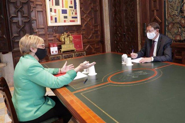 Reunión de Ximo Puig y la consellera de Sanidad, Ana Barceló (archivo)