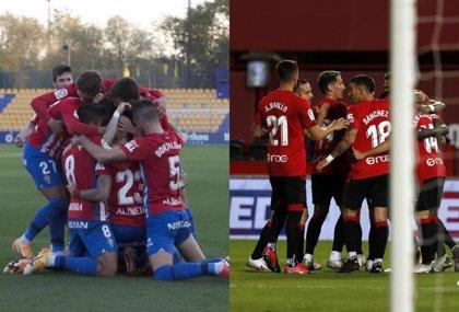 Sporting y Mallorca siguen la estela del Espanyol