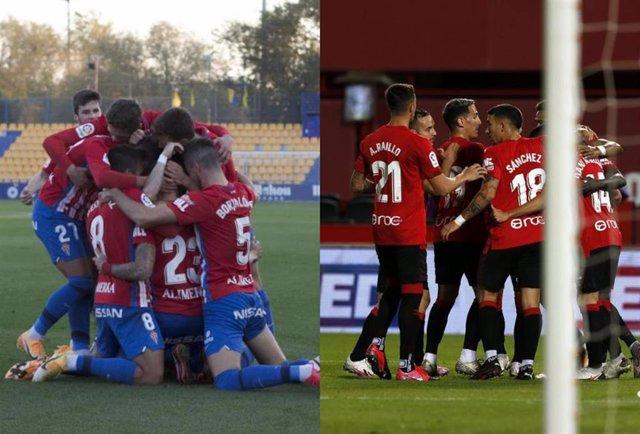 Sporting y Mallorca ganan a Alcorcón y Málaga en la novena jornada