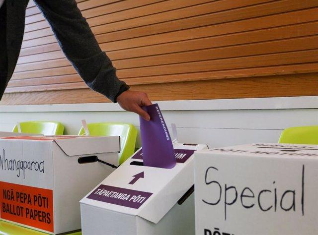 Imagen de las pasadas elecciones en Nueva Zelanda.
