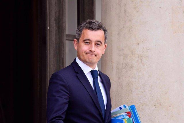 El ministro del Interior francés, Gerald Darmanin, a su salida de una reunión gubernamental en París