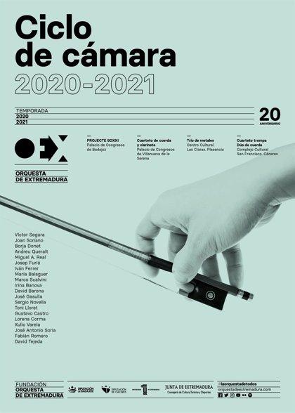 Un ciclo de conciertos de cámara lleva a agrupaciones de la OEx a Badajoz, Villanueva de la Serena, Plasencia y Cáceres