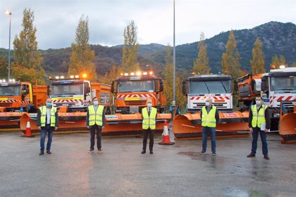 Más de 350 personas y 200 vehículos componen el dispositivo para la conservación de carreteras en la campaña invernal