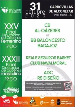 El Trofeo de Baloncesto de la Diputación de Cáceres se disputa este sábado en Garrovillas