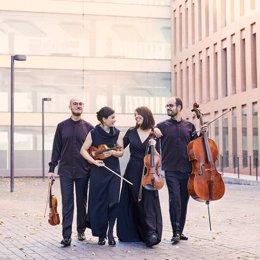 Imagen del Cuarteto Cosmos, que actuará en el Ciclo de Cámara.