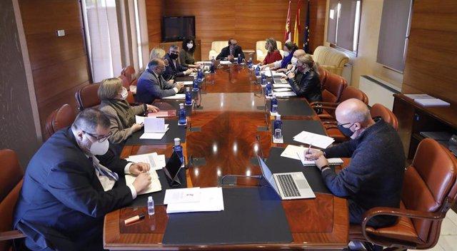 Reunión de la Mesa de las Cortes de C-LM