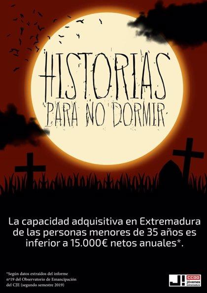 """Jóvenes CCOO Extremadura lanza una campaña para alertar del miedo ante su """"precaria situación laboral y personal"""""""