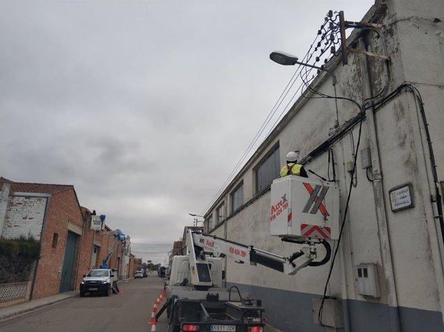 Mejora de la red eléctrica de baja tensión en El Palau d'Anglesola