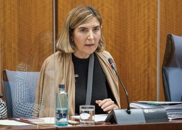 La consejera de Empleo, Rocío Blanco, en una imagen de archivo de una comparecencia parlamentaria.