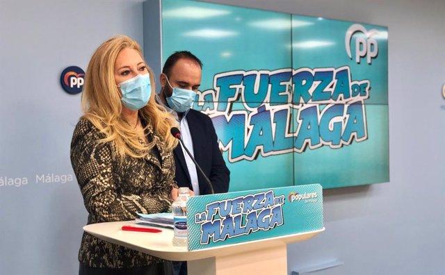 Los diputados nacionales del PP por Málaga Carolina España y Mario Cortés