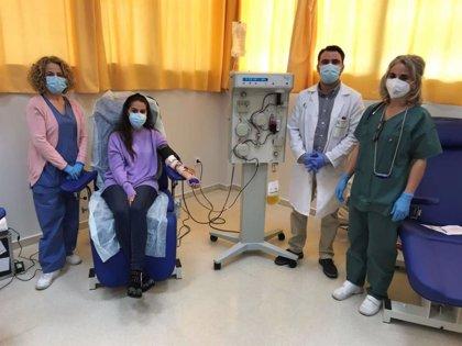 El Banco de Sangre pone en marcha un equipo de aféresis para producir más plasma hiperinmune contra la Covid-19