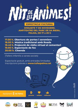 Cartel promocional de las actividades organizadas en Palma en motivo de la 'Nit de les Ànimes'