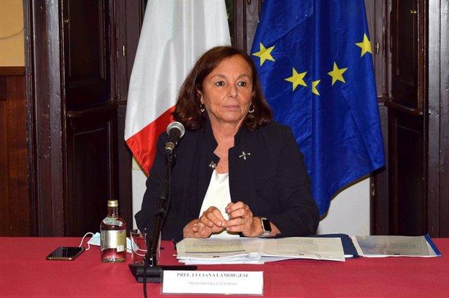 Luciana Lamorgese, ministra del Interior de Italia