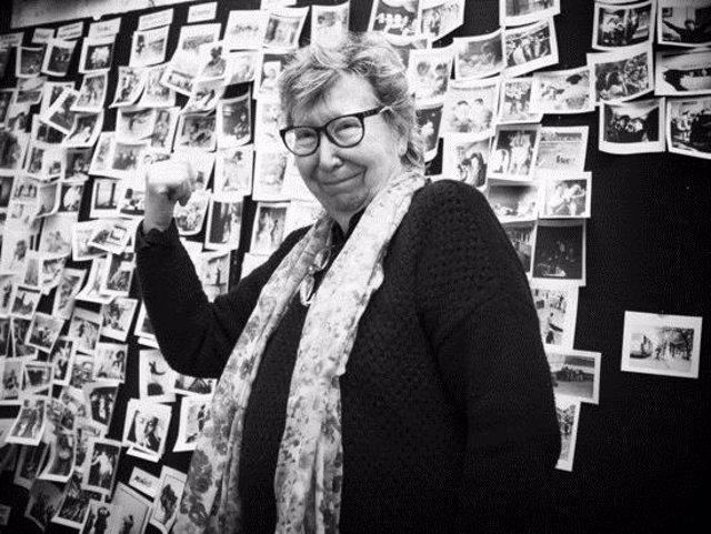 Imatge d'arxiu de Joana Biarnés amb algunes de les seves fotografies. (Horitzontal)