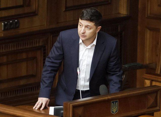 El presidente de Ucrania, Vladimir Zelenski.