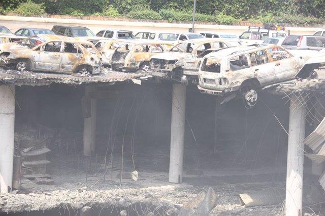Aparcamiento del centro comercial Westgate de la capital de Kenia, Nairobi, tras el atentado de Al Shabaab en 2013
