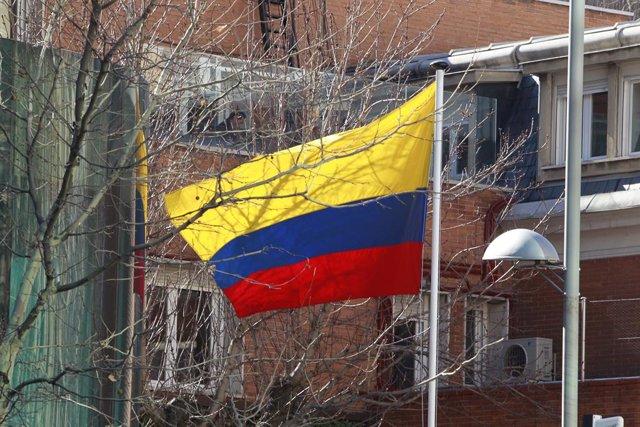 Imagen de archivo de una bandera de Colombia.