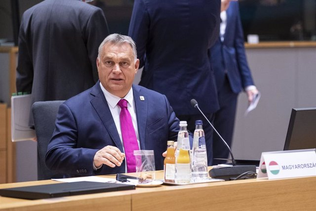 HANDOUT - 15 October 2020, Belgium, Brussels: Hungary's Viktor Orban attends a two days European Council summit focusing on Brexit negotiations. Photo: Zucchi-Enzo/European Council/dpa - ATTENTION: editorial use only and only if the credit mentioned above