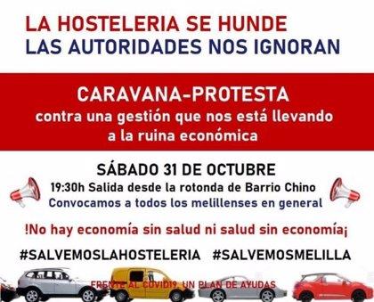 Hosteleros de Melilla se movilizarán tras la prórroga del cierre total del sector hasta el 9 de noviembre