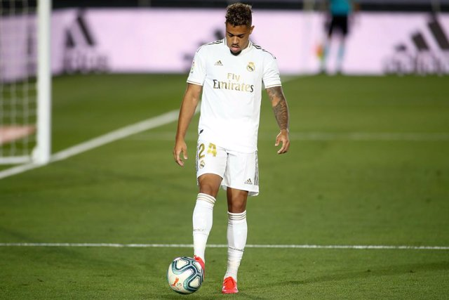 Mariano of Real Madrid in action during the spanish league, LaLiga, football match played between Real Madrid and RCD Mallorca at Alfredo Di Stefano Stadium on June 24, 2020 in Villarreal, Spain. The Spanish La Liga is restarting following its break cause