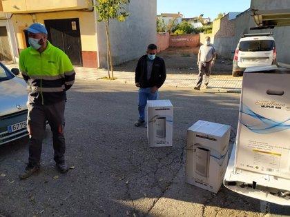 El Ayuntamiento de Villatorres (Jaén) adquiere purificadores de aire para los colegios