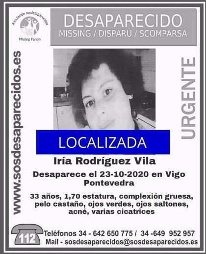 Localizada en buen estado la joven viguesa de 33 años que llevaba una semana desaparecida