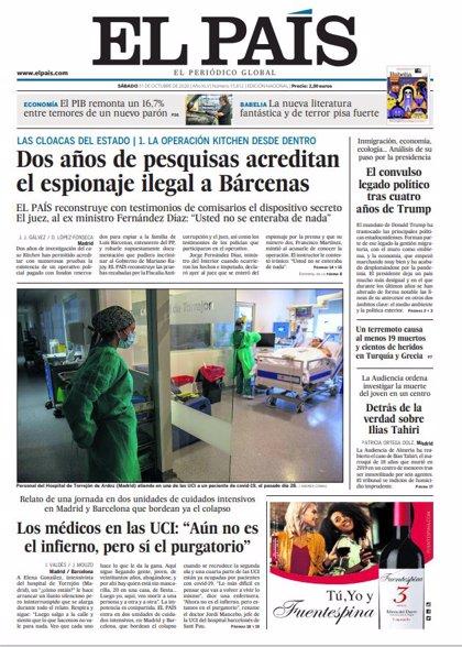 Las portadas de los periódicos del sábado 31 de octubre