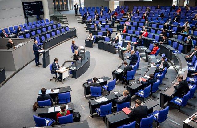 El Parlamento de Alemania durante una sesión plenaria.