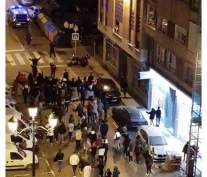 Cantabria se suma a los disturbios contra el toque de queda