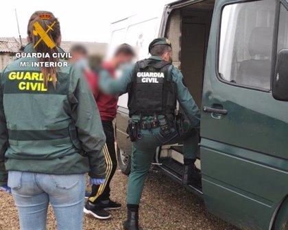 La Guardia Civil detiene en Zamora a seis personas por trata de seres humanos con fines de explotación laboral