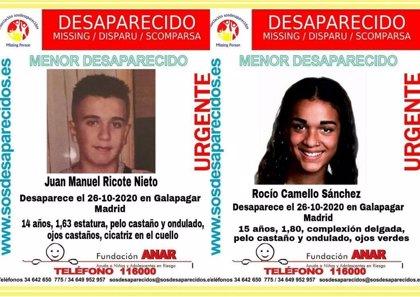 Buscan a dos menores desaparecidos desde el lunes en Galapagar