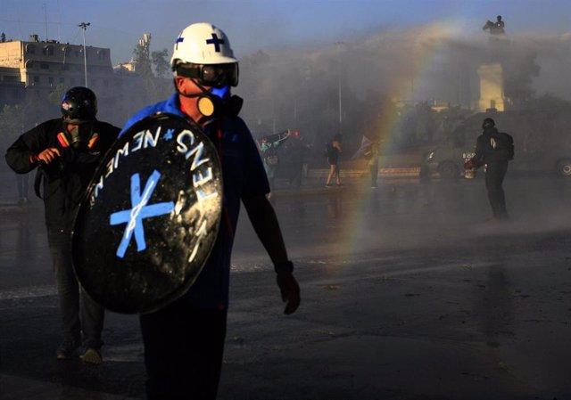 """Manifestación por los """"presos políticos"""" en Chile"""